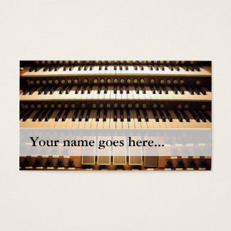 Organist business cards - 3 manuals