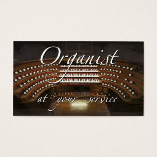 Organist business cards - at your service