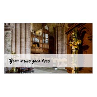 Organist business cards - St John s Chester UK