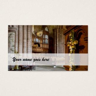 Organist business cards - St John's, Chester, UK