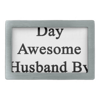 Organist By Day Awesome Husband By Night Rectangular Belt Buckle