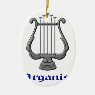 organist ceramic ornament