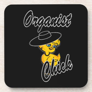 Organist Chick #4 Coasters