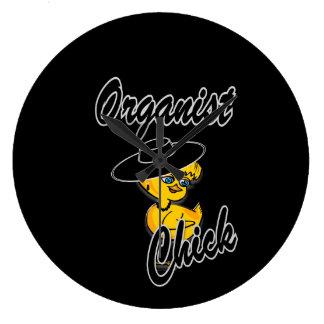 Organist Chick #4 Large Clock