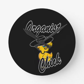 Organist Chick #4 Round Clock