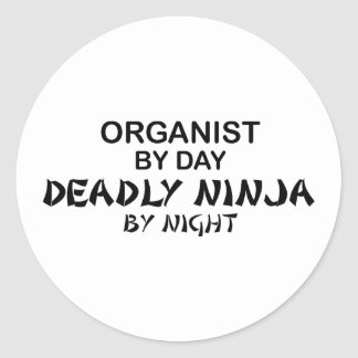 Organist Deadly Ninja by Night Classic Round Sticker