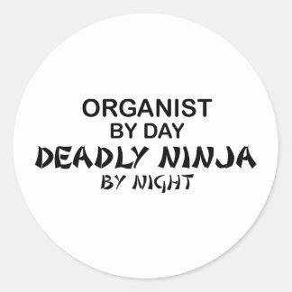 Organist Deadly Ninja by Night Classic Round Sticker