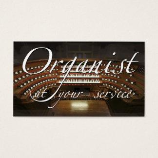 Organist (European organ) business card
