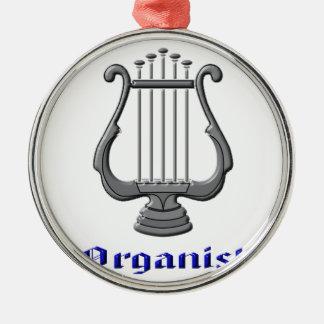 organist metal ornament