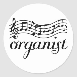 Organist Musical staff Stickers