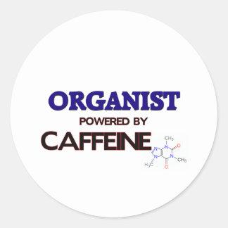 Organist Powered by caffeine Sticker