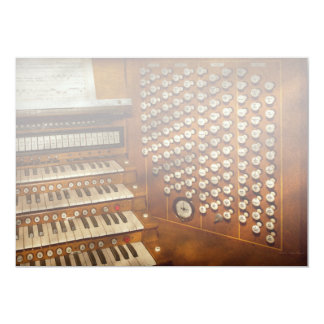 Organist - Ready at the controls Card