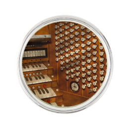 Organist   Ready At The Controls Lapel Pin