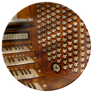 Organist - Ready at the controls Plate