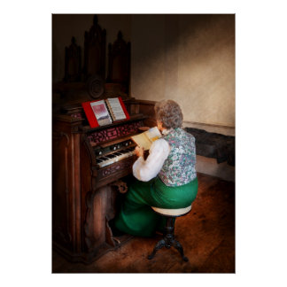 Organist - The lord is my shepherd Poster