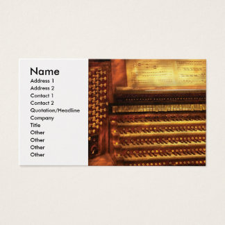 Organist - The Pipe Organ Business Card