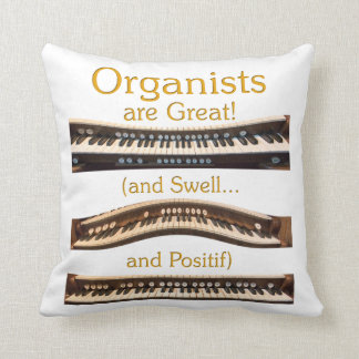 Organist throw pillow