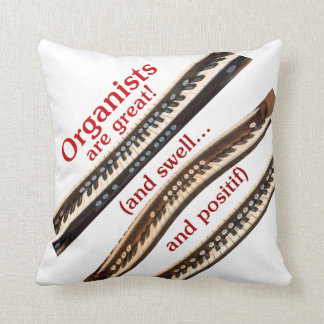 Organist throw pillow - red