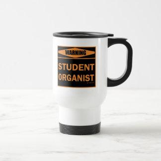 Organista del estudiante taza de viaje de acero inoxidable