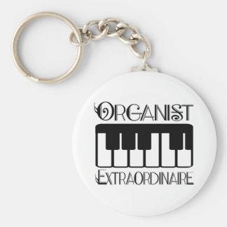 Organista del teclado Extraordinaire Llavero Redondo Tipo Pin