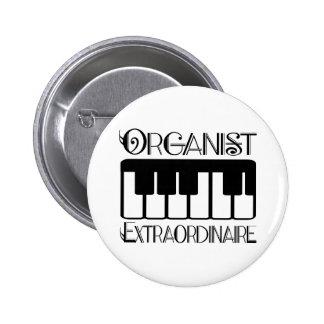 Organista del teclado Extraordinaire Pin Redondo 5 Cm