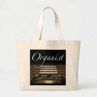 Organista en su bolso del servicio bolsas de mano