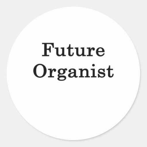 Organista futuro pegatina redonda