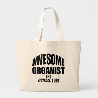 Organista impresionante bolsa tela grande
