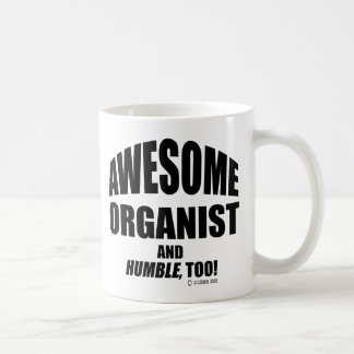 Organista impresionante taza de café
