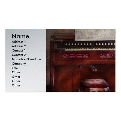 Organista - mi órgano de las abuelas tarjetas de visita