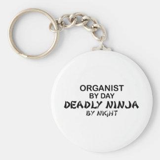 Organista Ninja mortal por noche Llavero Redondo Tipo Pin