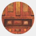Organista - órgano de Skippack Ville - 1835 Etiquetas Redondas