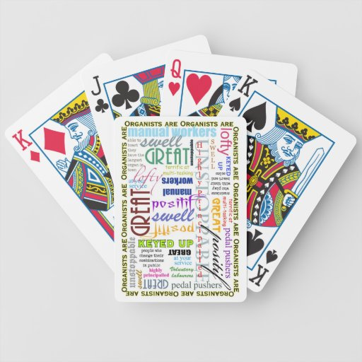 Organists are Everything! playing cards