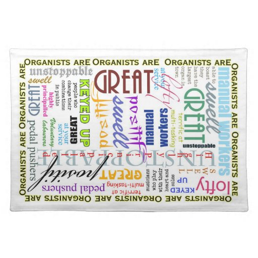 Organists are Great! place mats