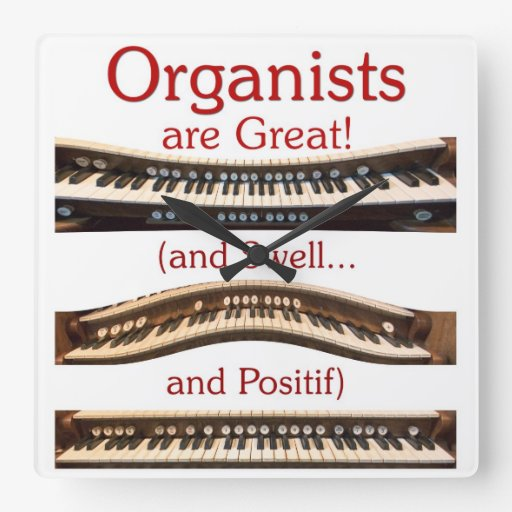 Organists are Great square clock