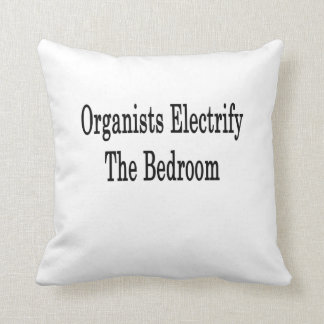 Organists Electrify The Bedroom Throw Pillow
