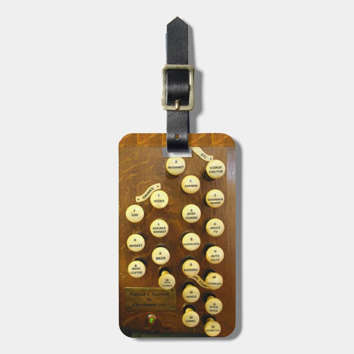 Organist's perfect organ luggage tag