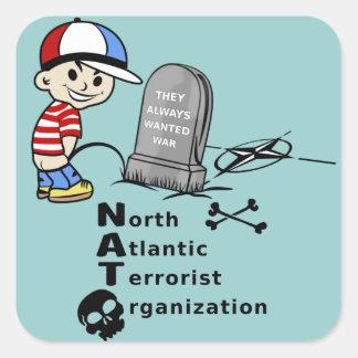 Organización terrorista de Atlántico Norte Calcomania Cuadrada Personalizada