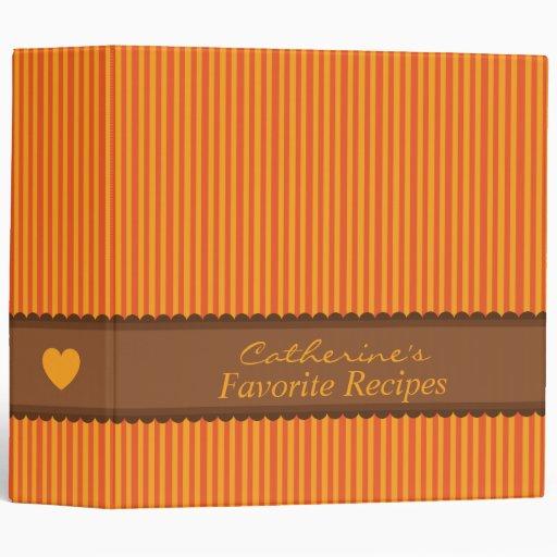Organizador anaranjado y marrón de la carpeta de