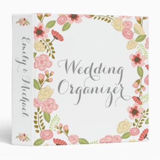 """Organizador botánico del boda carpeta 1 1/2"""""""