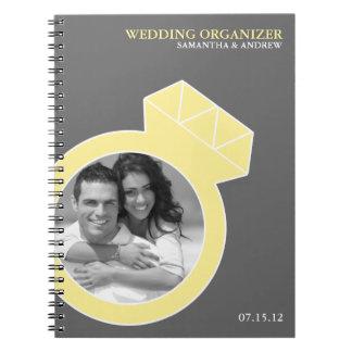 Organizador de encargo del boda de la foto del ani spiral notebooks