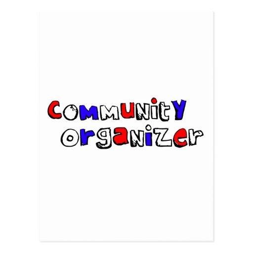 Organizador de la comunidad tarjeta postal