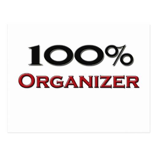 Organizador del 100 por ciento tarjeta postal