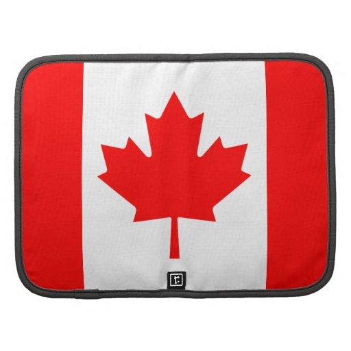 Organizador del folio de la bandera de Canadá