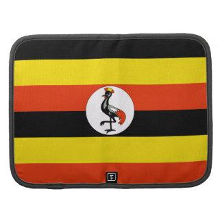 Organizador del folio de la bandera de Uganda