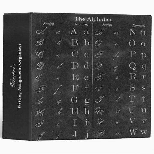 Organizador del personalizado del alfabeto de la p