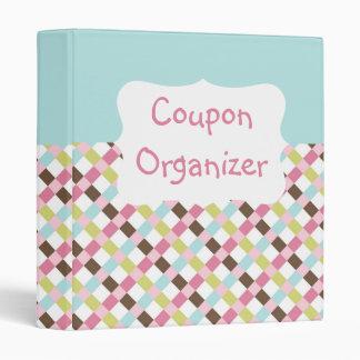 """Organizador en colores pastel de la cupón carpeta 1"""""""