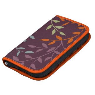 Organizador en folio de Smartphone - hojas colorid