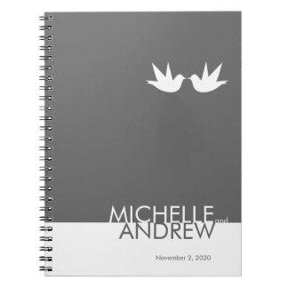 Organizador moderno del libro de visitas del boda  cuaderno
