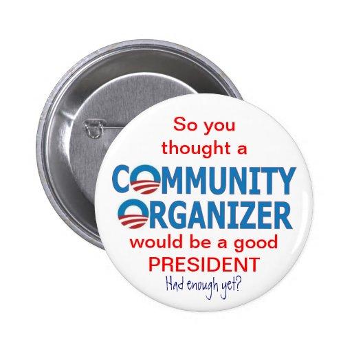 Organizador Obama de la comunidad Pin